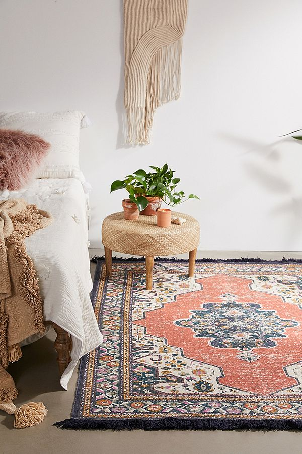 Sofia Red Printed 5x7 Rug by Urban Outfitters