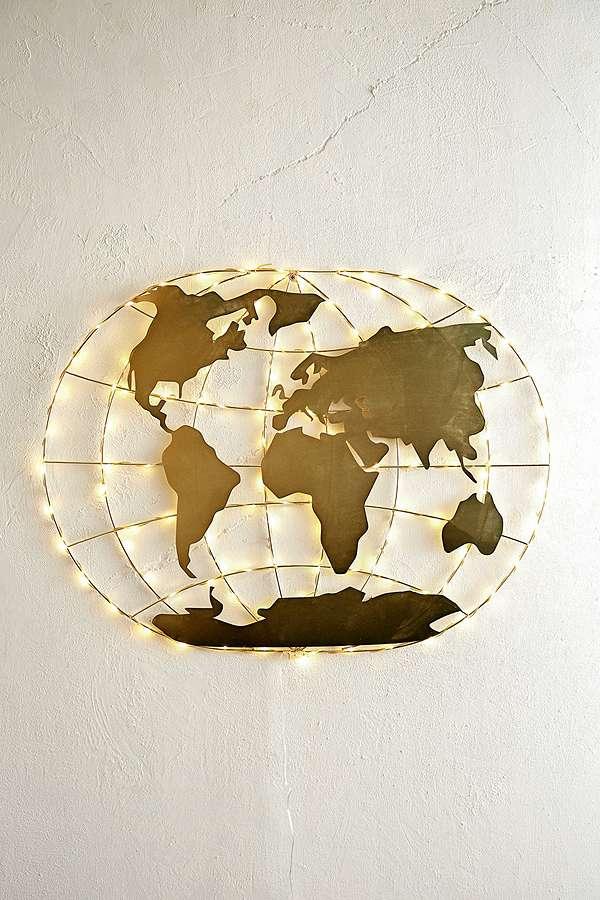 Carte Du Monde Lumineuse.Guirlande Lumineuse Carte Du Monde