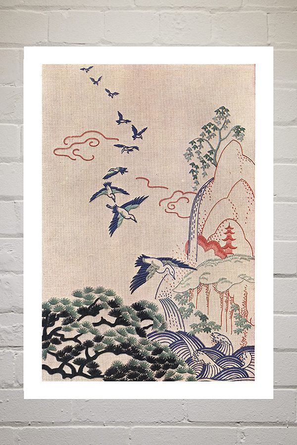 Japanese Landscape By Land Of Lost Content Wall Art by Land Of Lost Content
