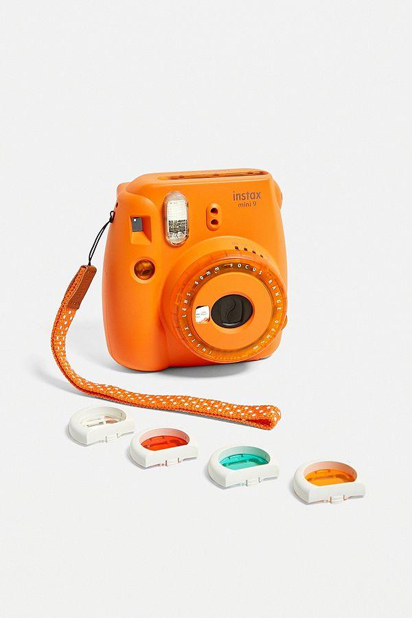 Fujifilm Instax Appareil Photo Instantané Mini 9 Orange à Lentille Transparente Exclusivité Uo