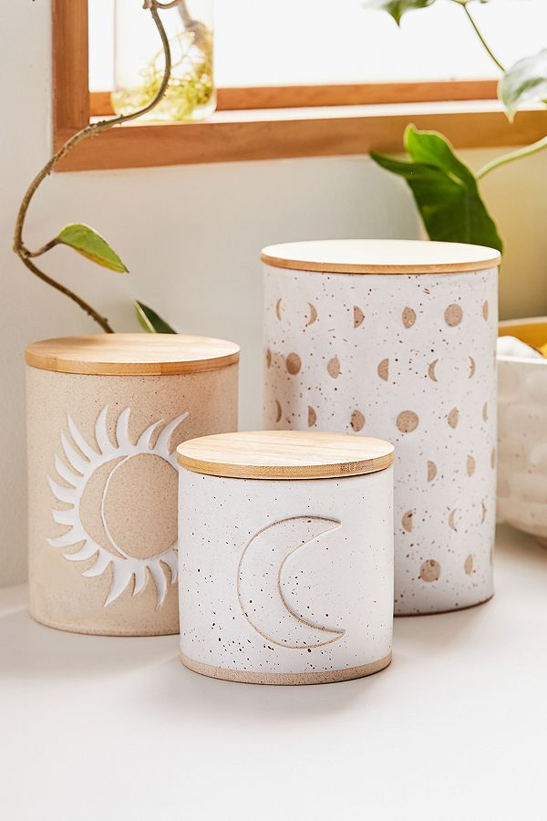 Ivy Small Ceramic Canister by Urban Outfitters