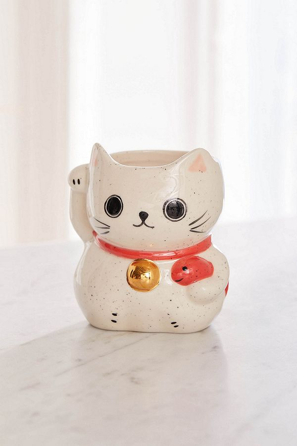 Lucky Cat Mug by Urban Outfitters