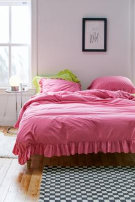 Washed Cotton Frill Duvet Cover Snooze Set by Urban Outfitters
