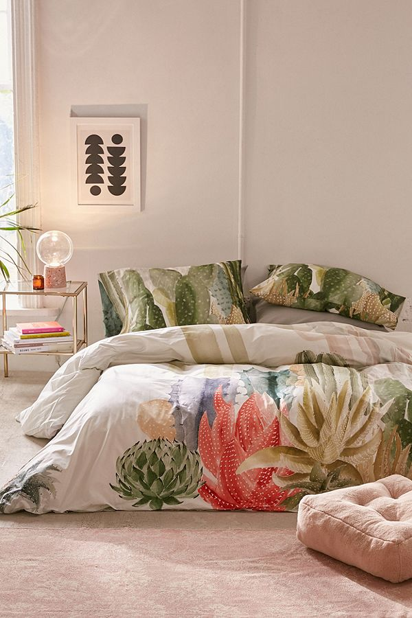 Bettwäsche Set Mit Kaktusprint Urban Outfitters De