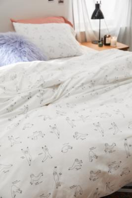 Yoga Sloth Duvet Cover Set With Drawstring Bag Urban Outfitters Uk