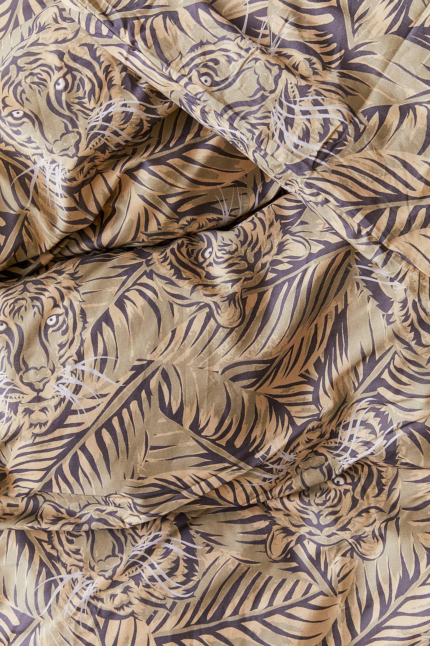 Hidden Leopard Duvet Cover Set Urban Outfitters Uk