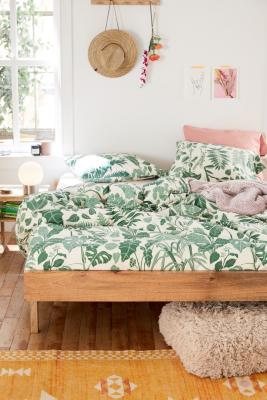 Jungle Leaves Duvet Cover Set Urban Outfitters Uk