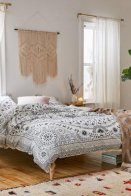 Bobbi Black And White Floral Duvet Cover Set Urban Outfitters Uk