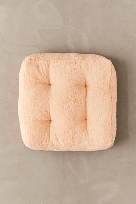Sherpa Floor Peach Cushion by Urban Outfitters