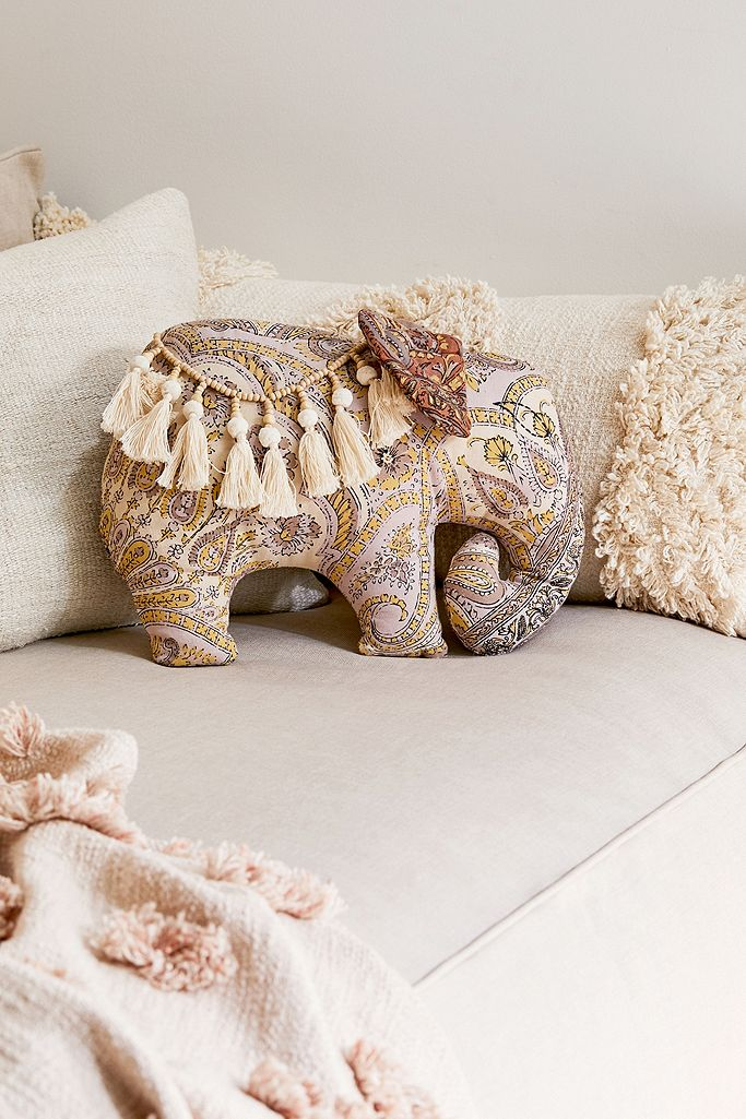 Elephant Throw Cushion Urban Outfitters Uk