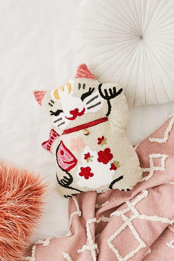 91b4b5e7065 Lucky Cat Throw Cushion