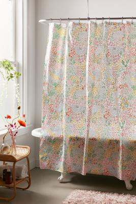 Meadow Floral Shower Curtain Urban Outfitters Uk