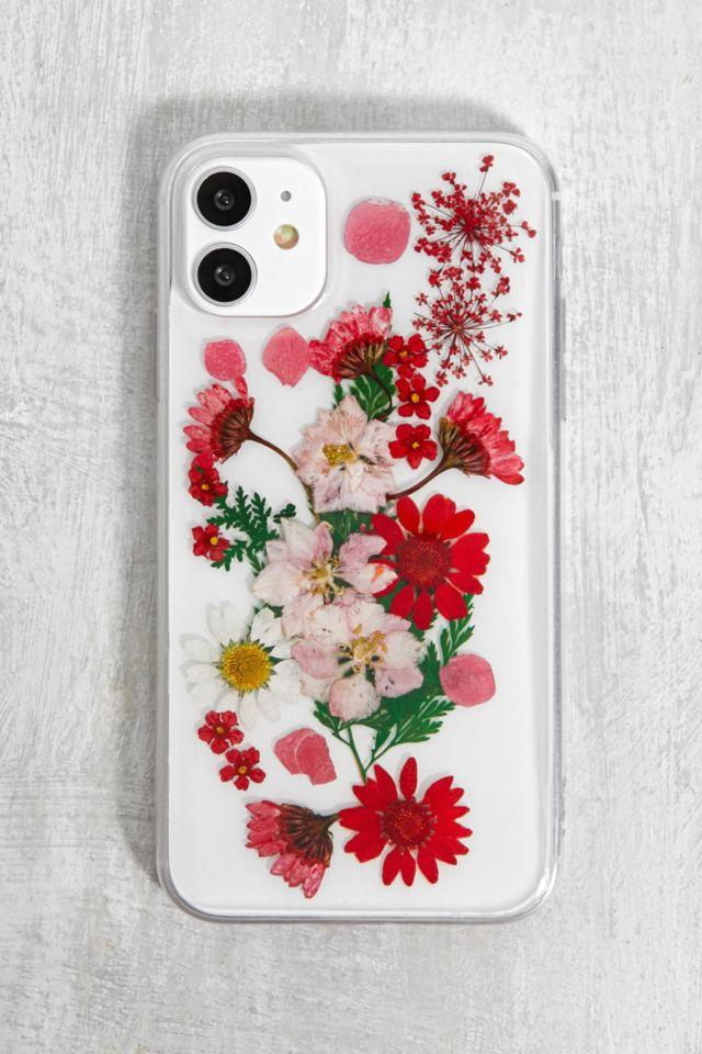 Recover - Coque pour iPhone 11/XR fleurs séchées rouge
