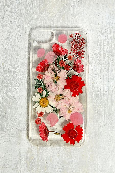 ef95e0529ca Red Pressed Flowers iPhone 6 6s 7 8 Case