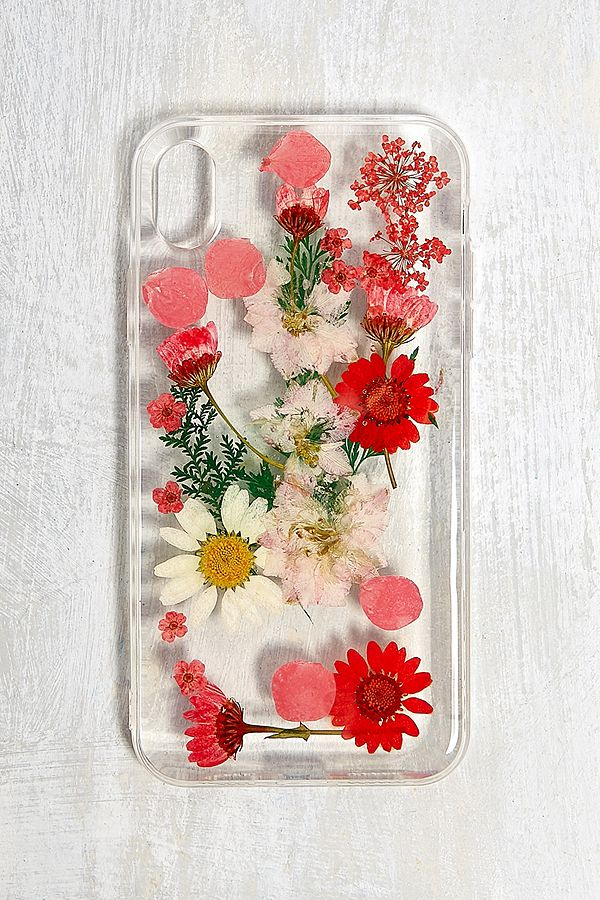 best service 6f017 0130d Red Pressed Flowers iPhone XR Case