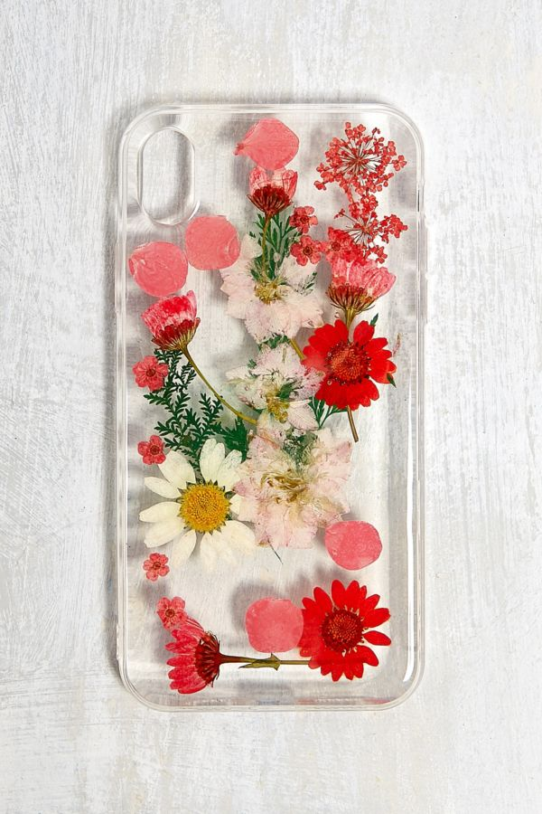 coque iphone xr fleur rouge