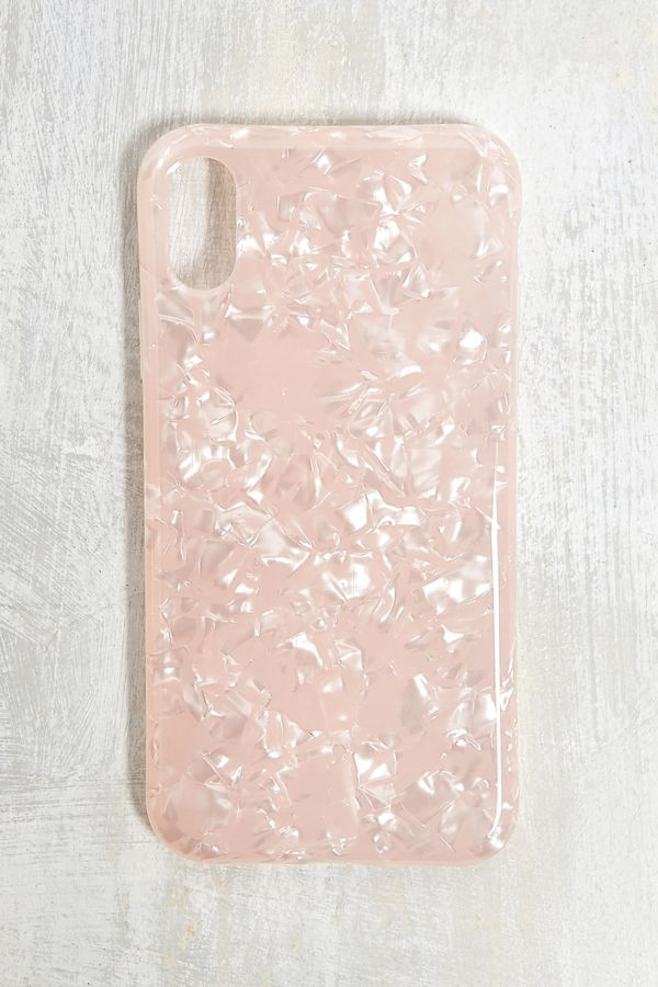 coque iphone xr rose paillette
