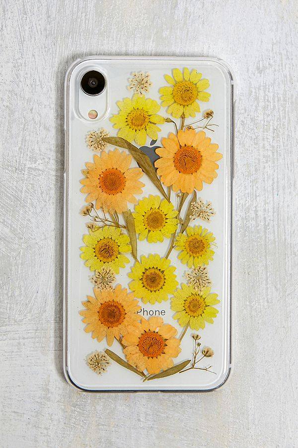 buy online 025a5 7001a Pressed Sunflower iPhone XR Case