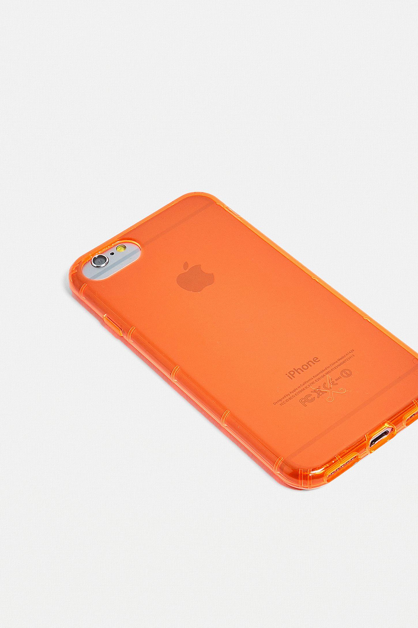 coque iphone 8 orange fluo