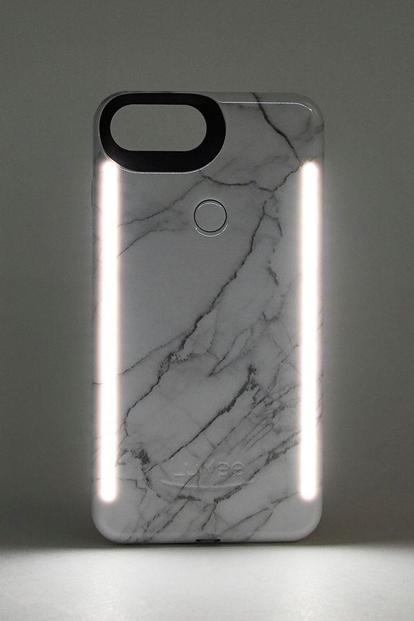 half off 505ae f5862 LuMee Duo White Marble iPhone 6/7/8 Case
