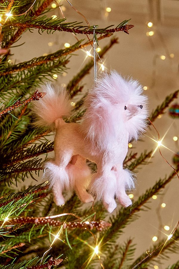 Pink Christmas Tree Decorations Uk.Pink Poodle Christmas Ornament