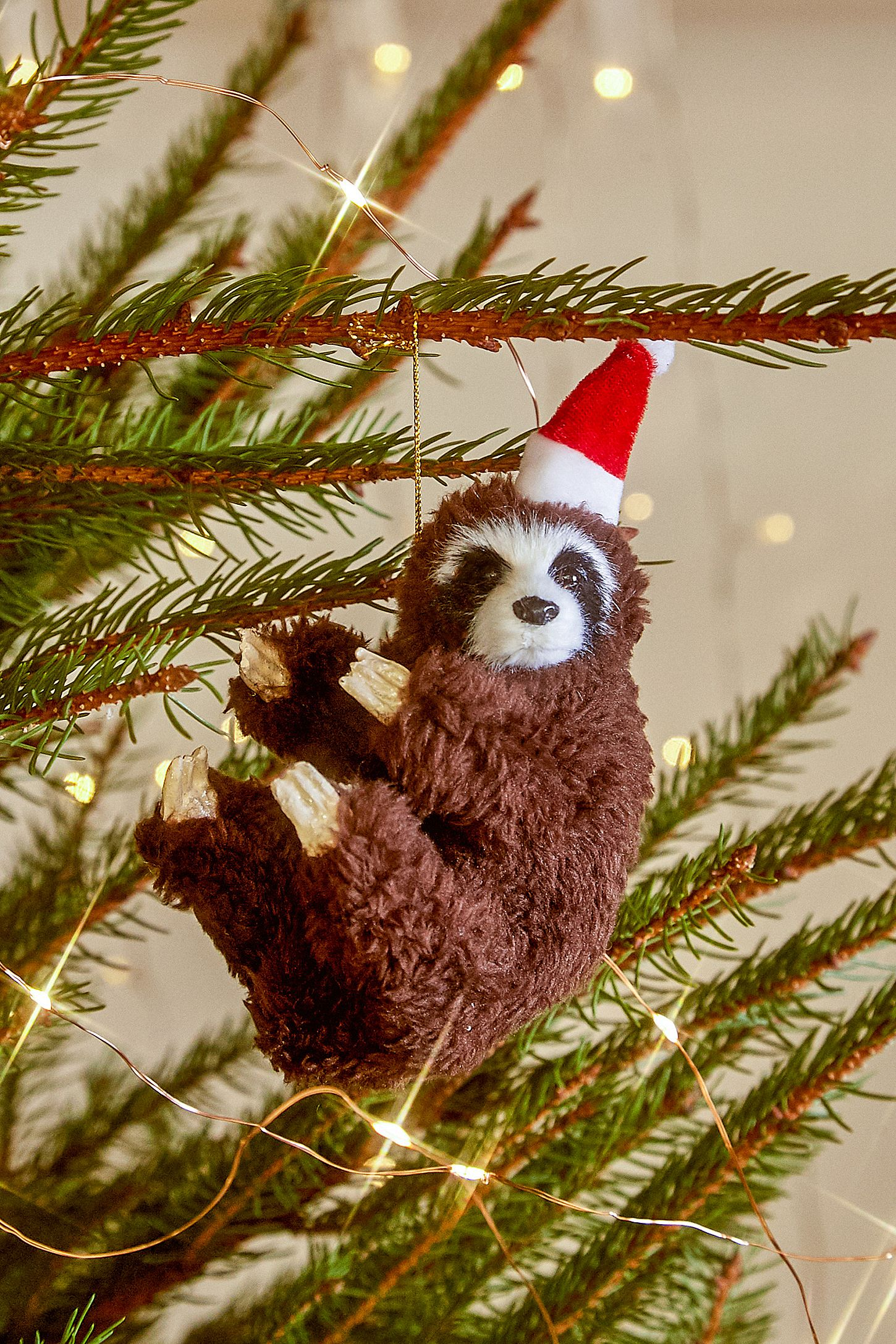 Christmas Sloth.Sloth Christmas Ornament