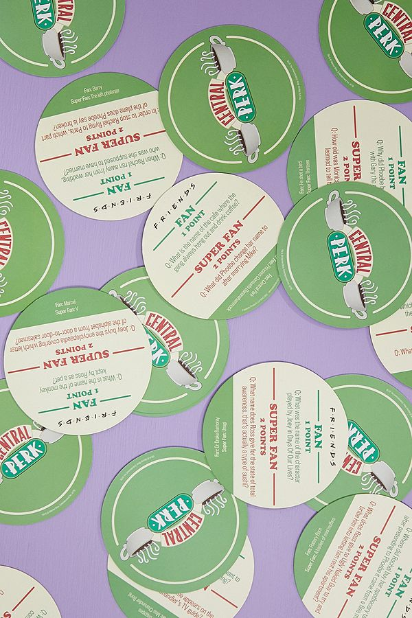 Paladone Friends Central Perk Trivia Quiz Coasters