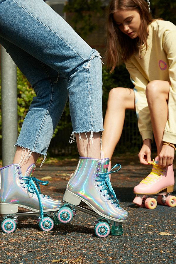 176ccbf246e Impala Rollerskates Holographic Quad Roller Skates   Urban Outfitters UK