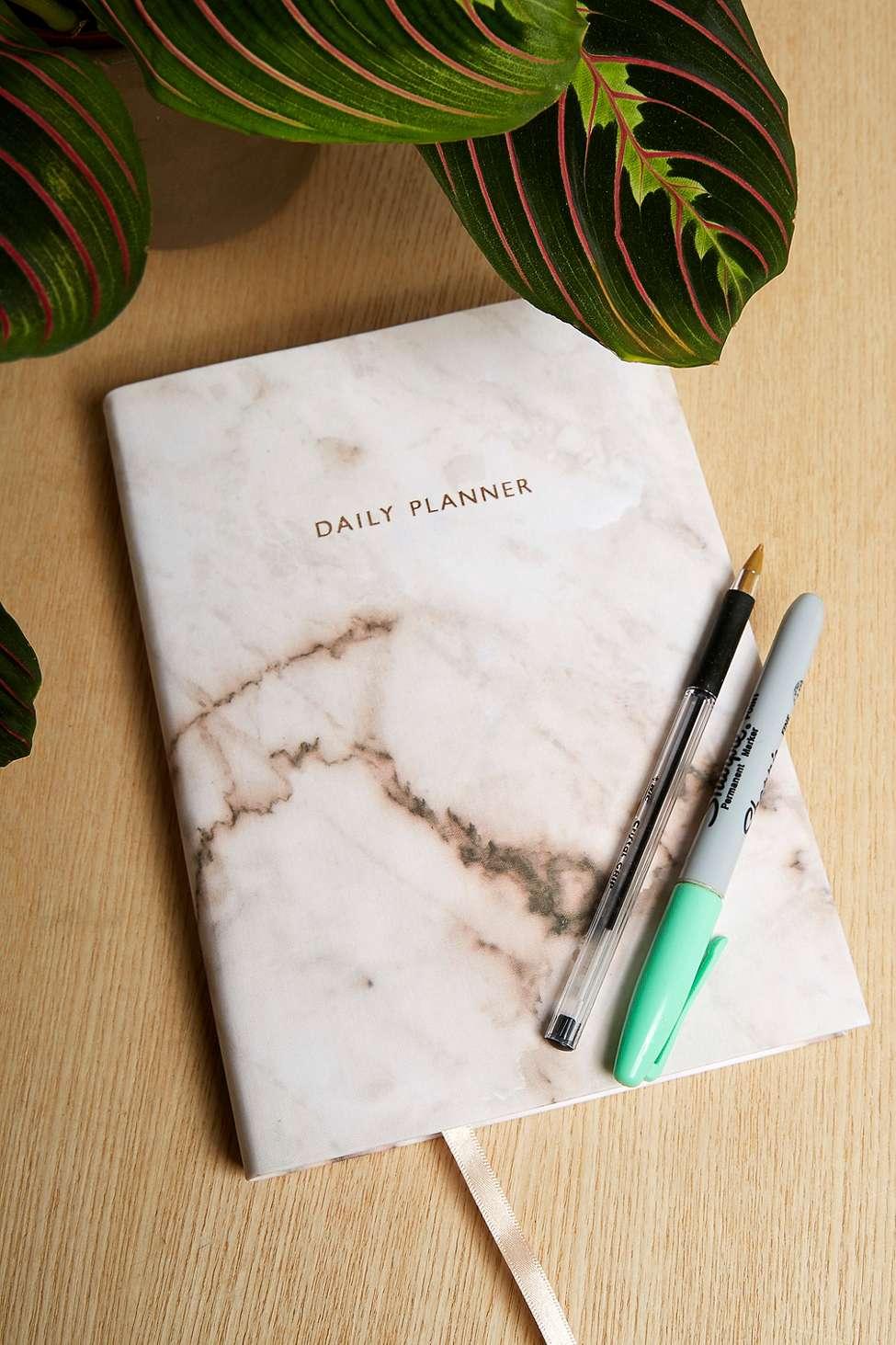 Slide View: 1: Ohh Deer Marble Rose Daily Planner