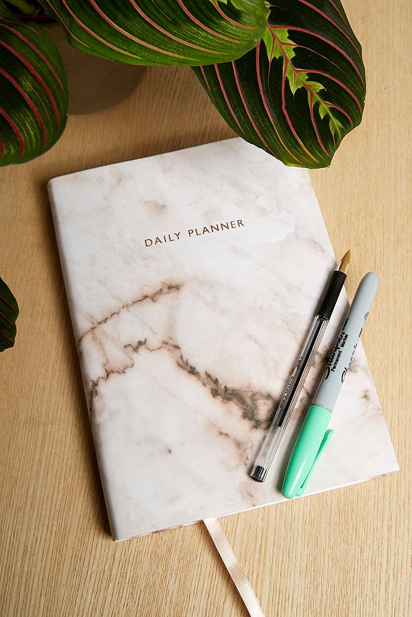 Slide View: 1: Ohh Deer Marble Rose Daily Planner
