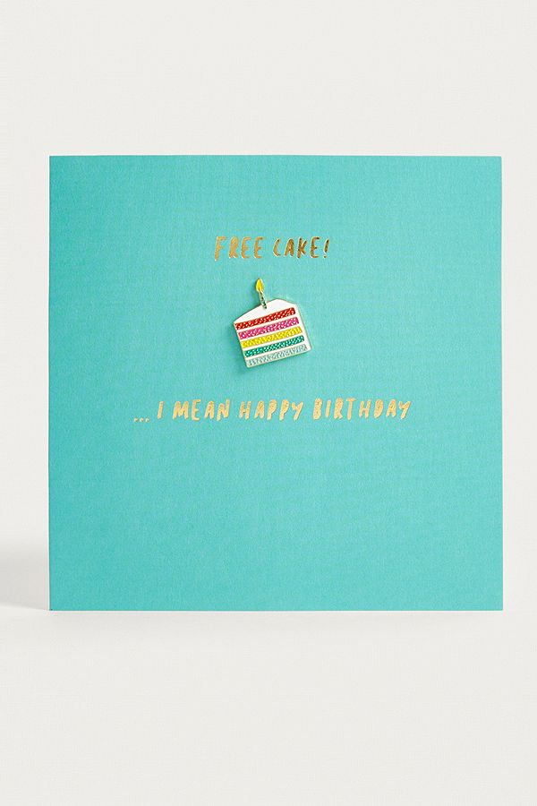 Slide View 1 Redback Cards Free Cake I Mean Happy Birthday Card