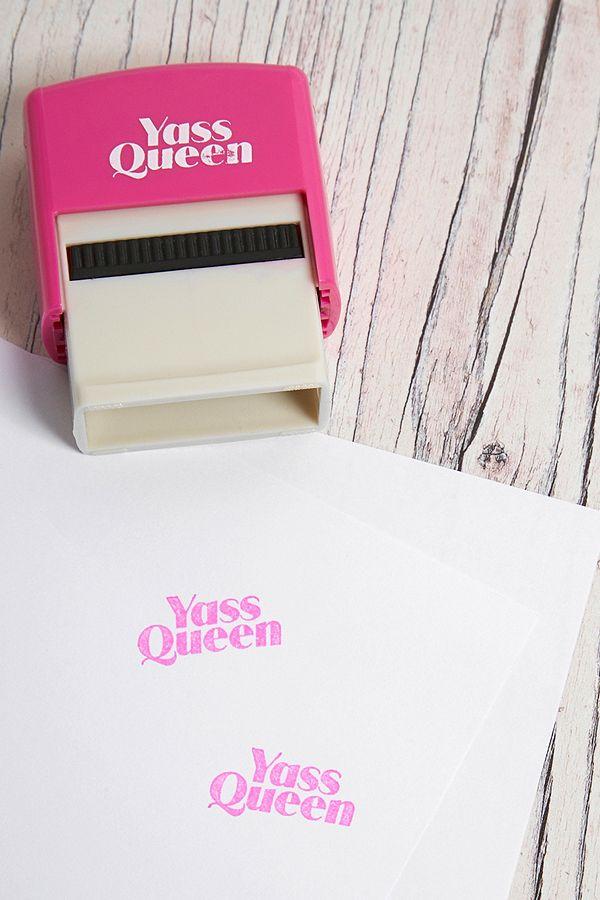 Bubblegum Stuff Yass Queen Mini Self Inking Stamp Urban Outfitters Uk