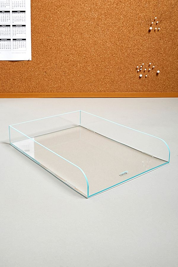 Lund London Neon Blue Stacking Filing Tray by Lund London
