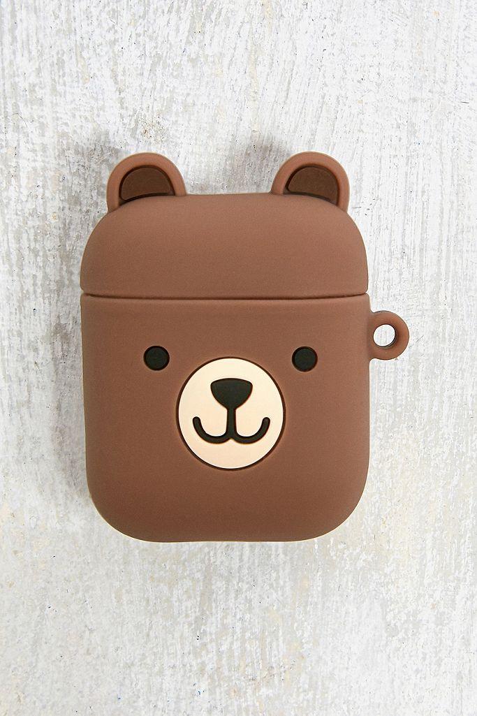 Airpods Etui aus Silikon im Bären Design