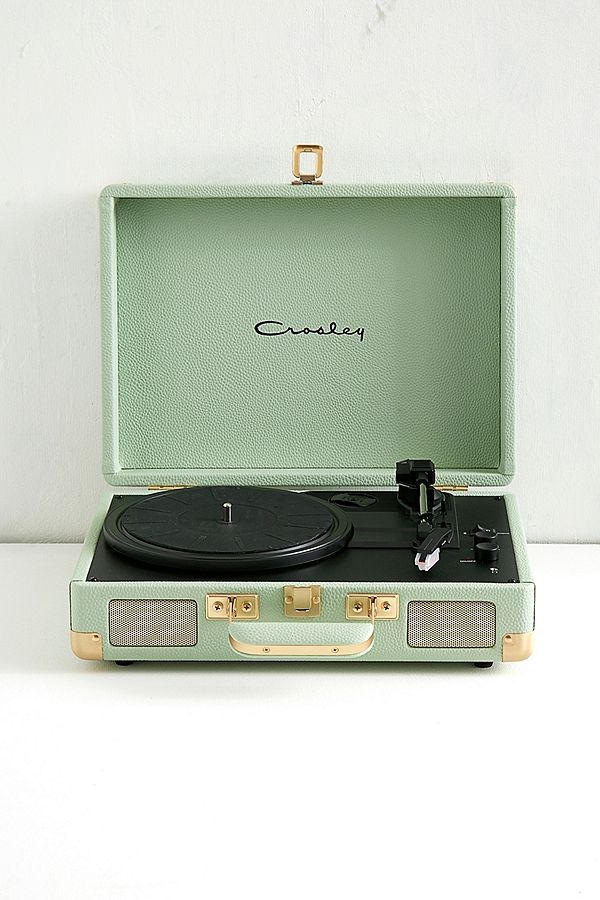 Crosley Cruiser Mint And Gold Bluetooth Vinyl Record