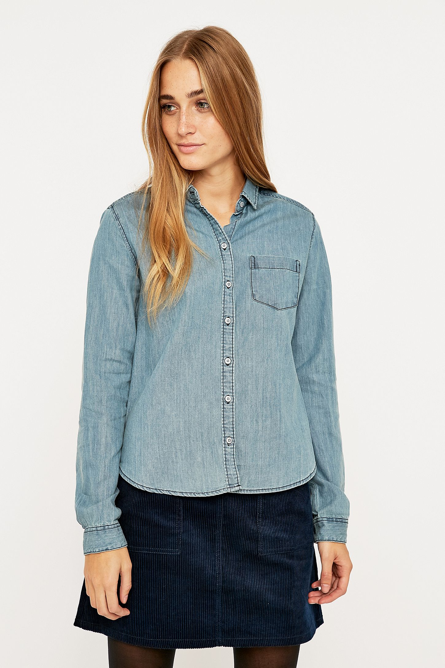 7aec890a BDG Katie Tencel Button-Down Shirt | Urban Outfitters UK