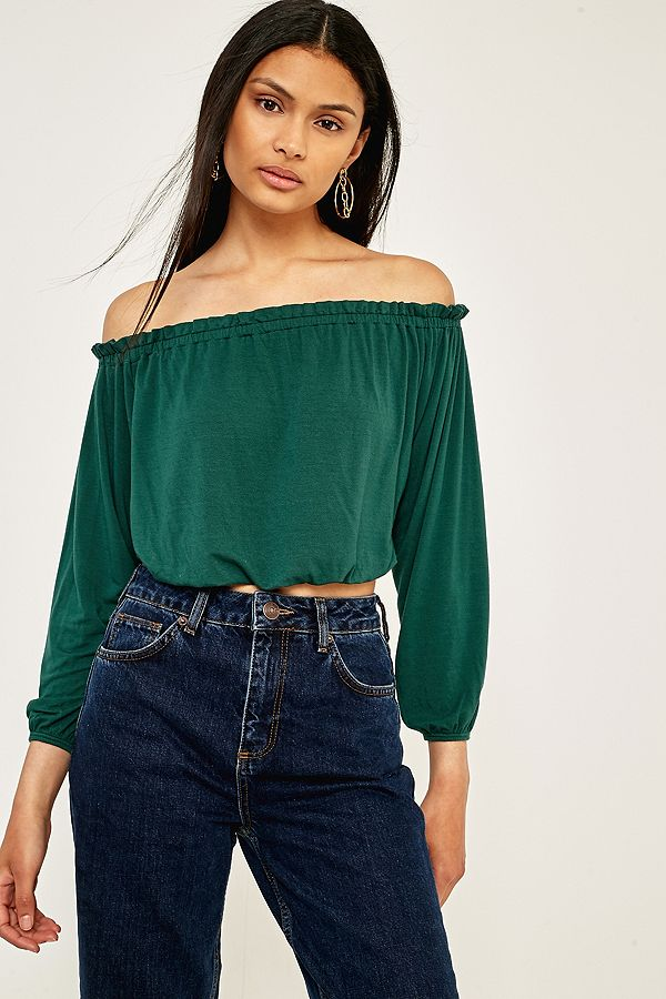 69f266e8327 Pins & Needles Bardot Off-The-Shoulder Batwing Top | Urban Outfitters UK