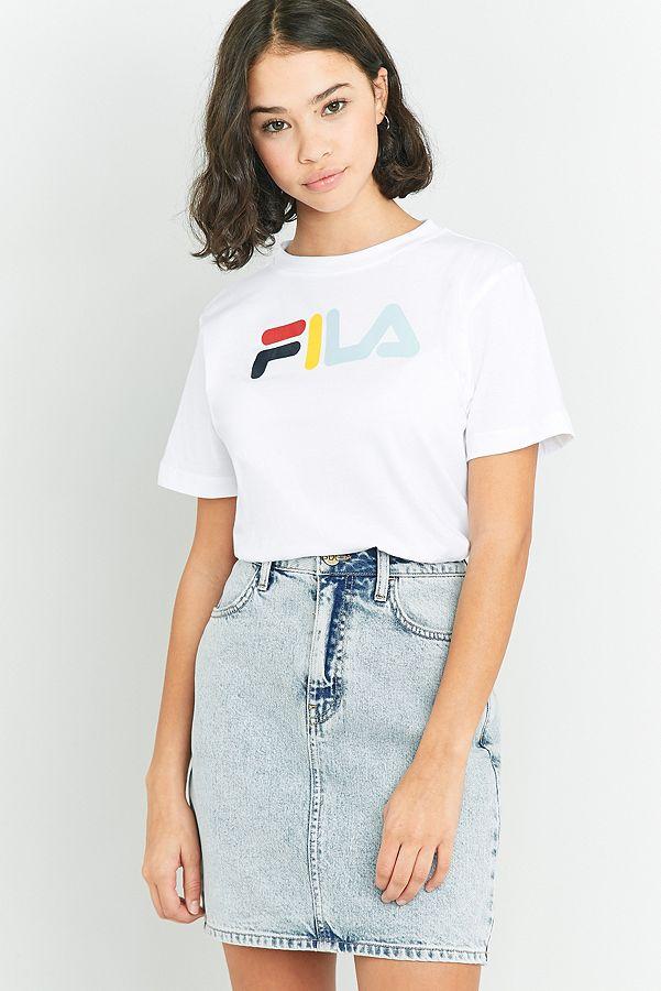 d1bbad090 FILA Eagle White Logo T-shirt | Urban Outfitters UK