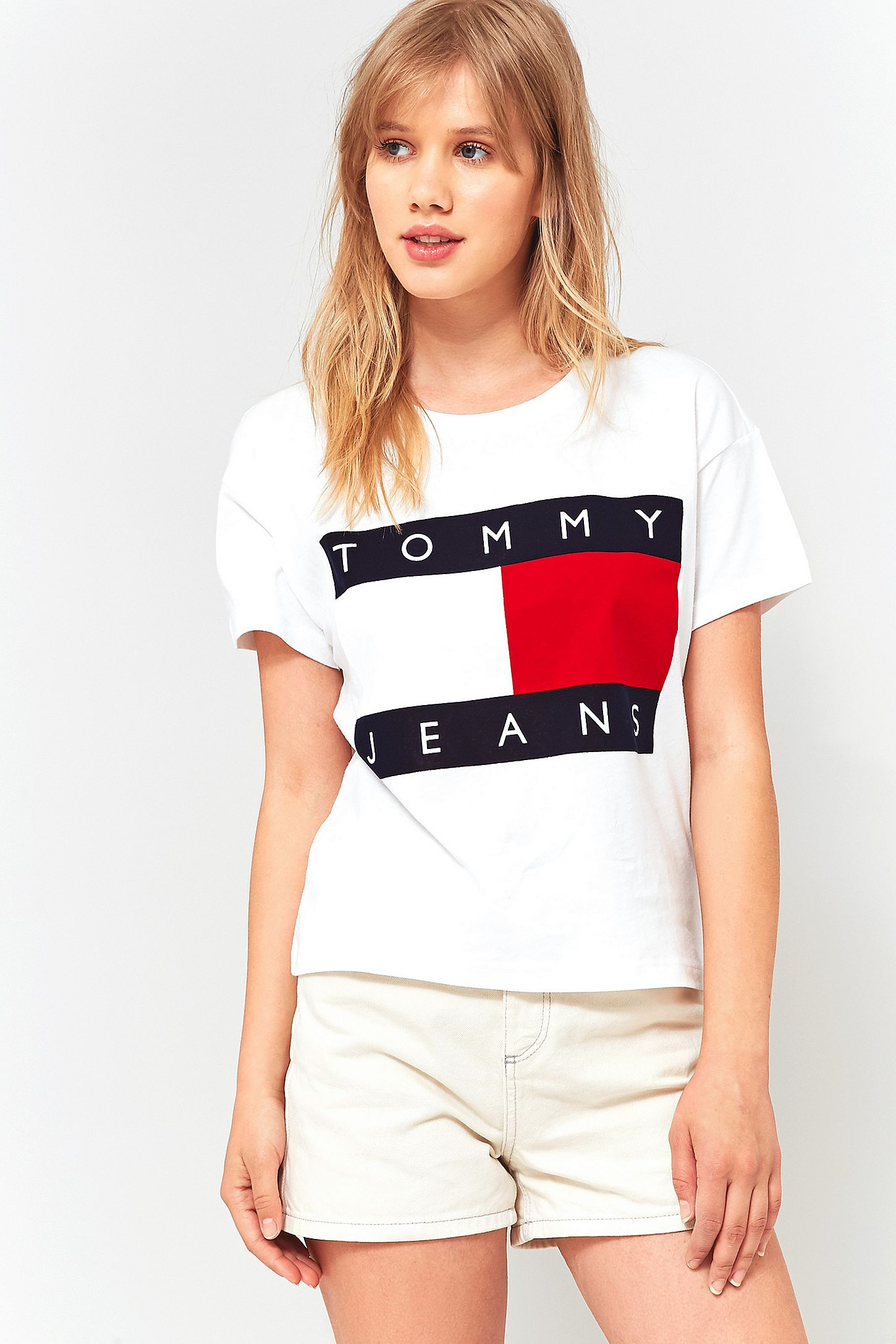 0fe61657c2c Tommy Jeans 90s T Shirt White Womens – DACC