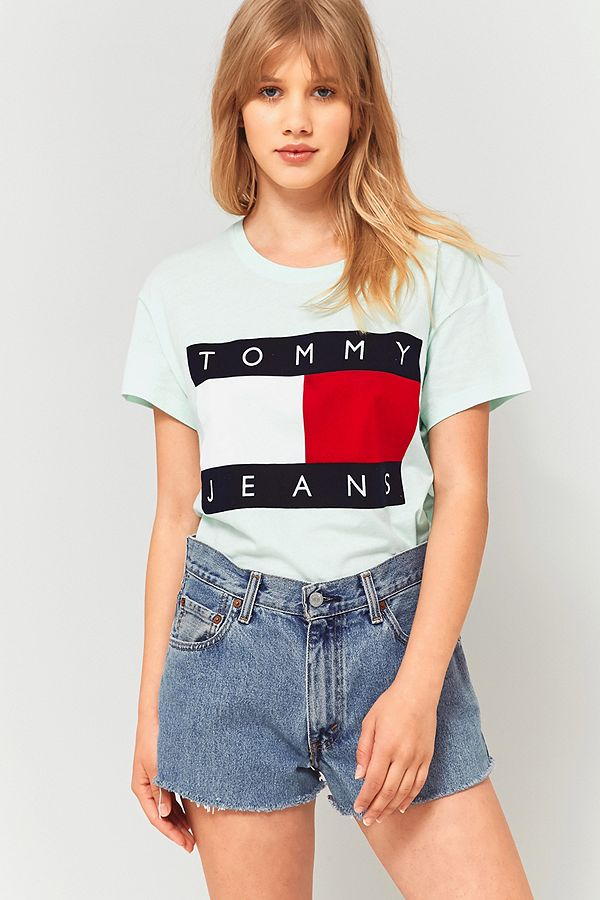 best cheap attractive price arriving Tommy Jeans '90s Mint Green Logo T-Shirt
