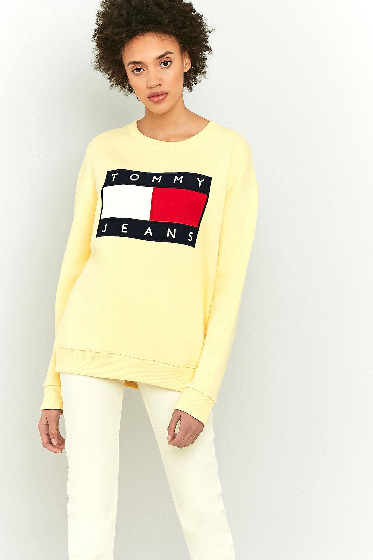 b7f63ad3405 Tommy Jeans  90s Yellow Logo Sweatshirt