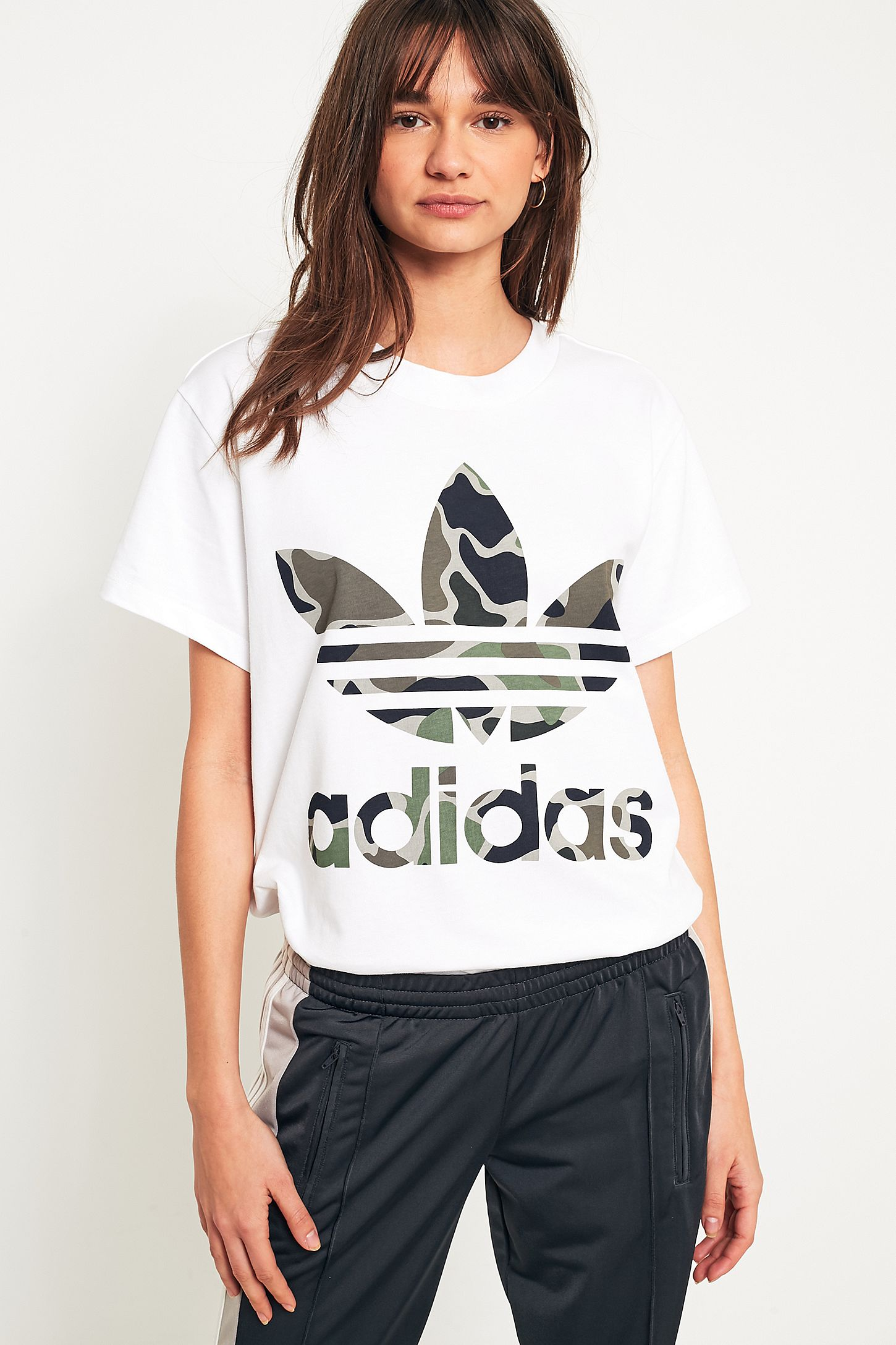 a370aaa6 adidas Originals Camo Big Trefoil T-Shirt | Urban Outfitters UK
