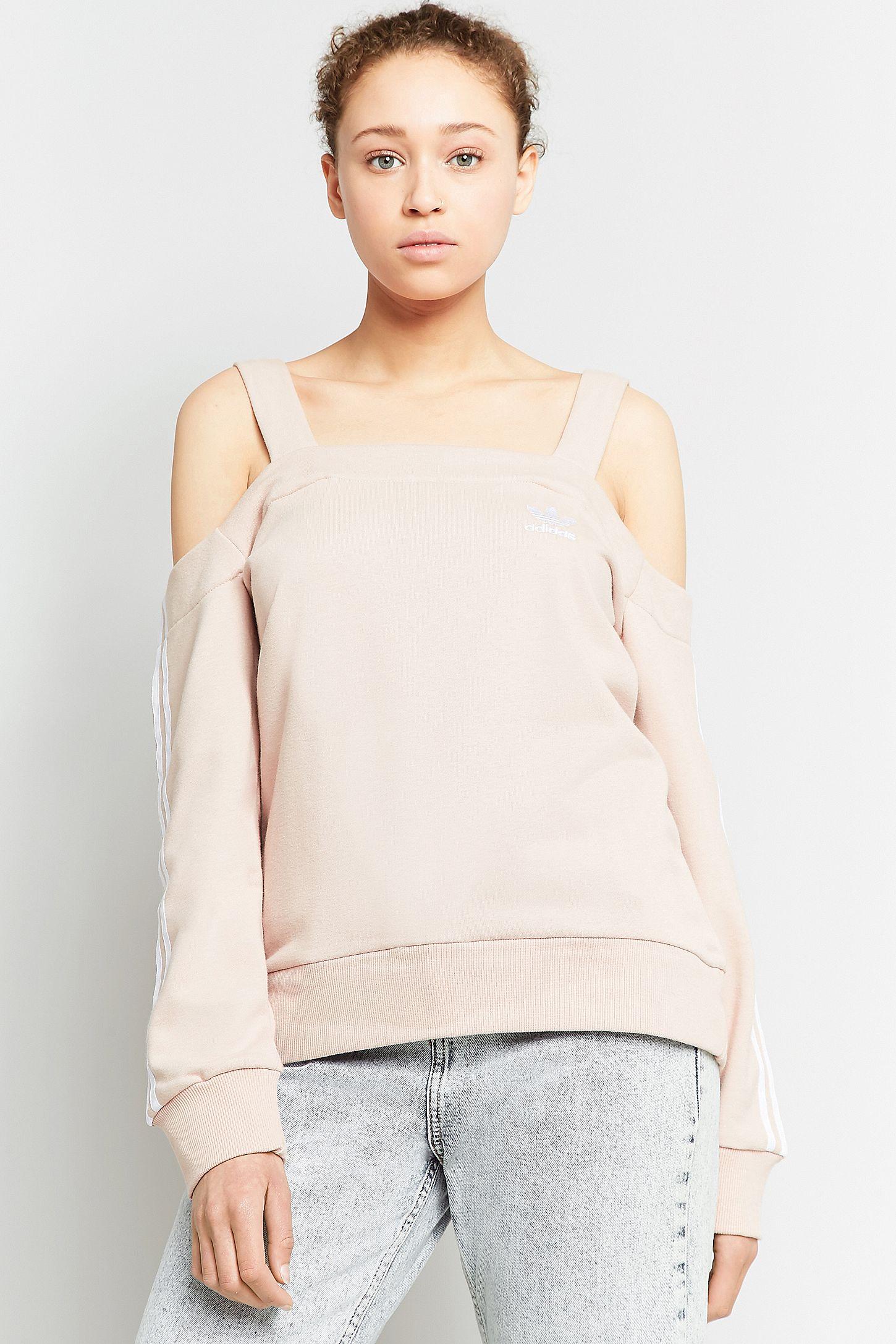 bb717038e4048 adidas Originals Pink Cold Shoulder Sweatshirt