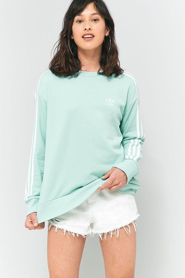 adidas Originals – A Linien Sweatshirt mit 3 Streifen in Grün