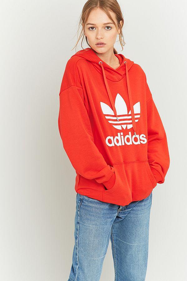 adidas Originals Red Trefoil Hoodie