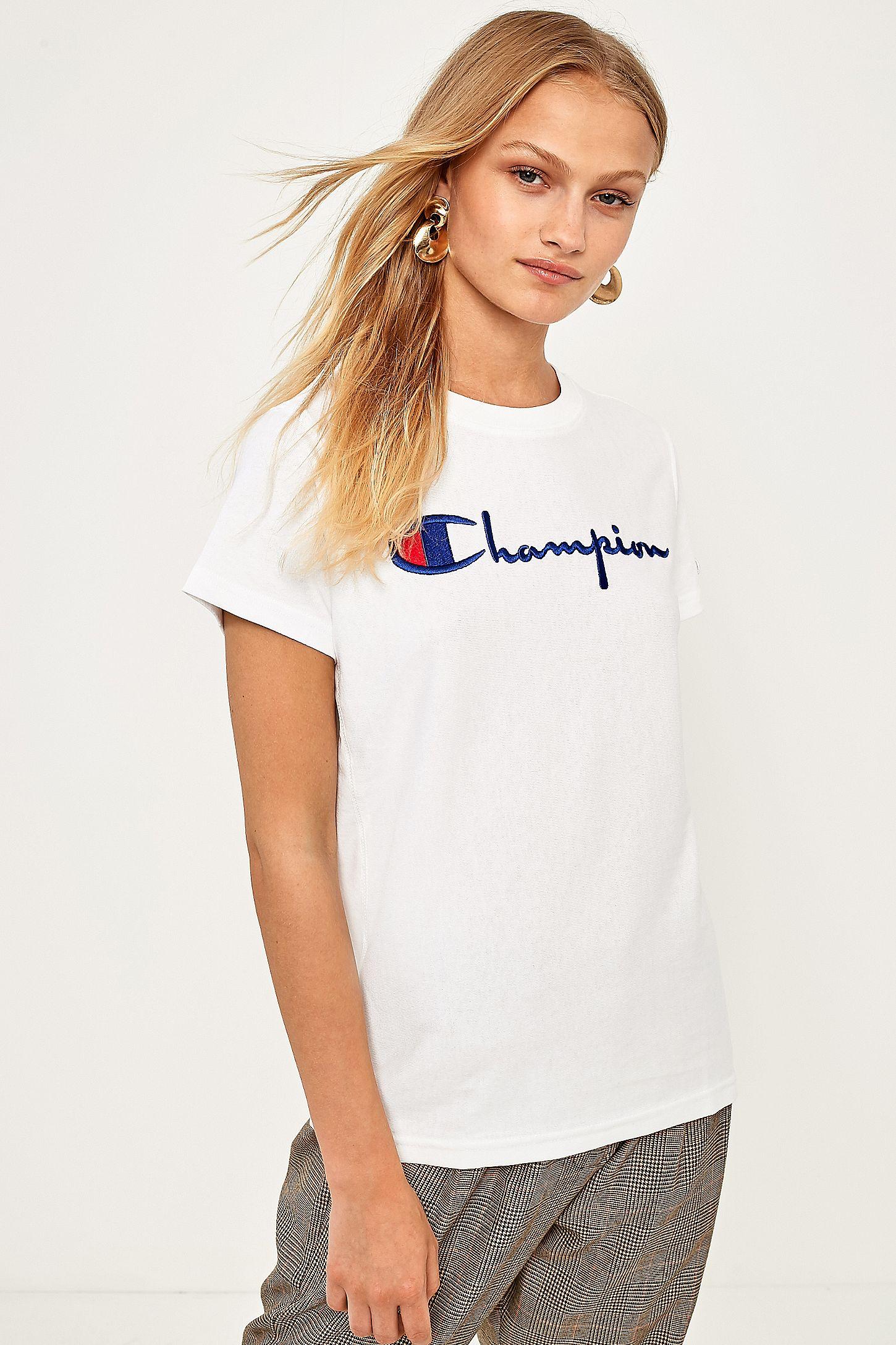 6e046cb63b4 Champion White Logo T-Shirt