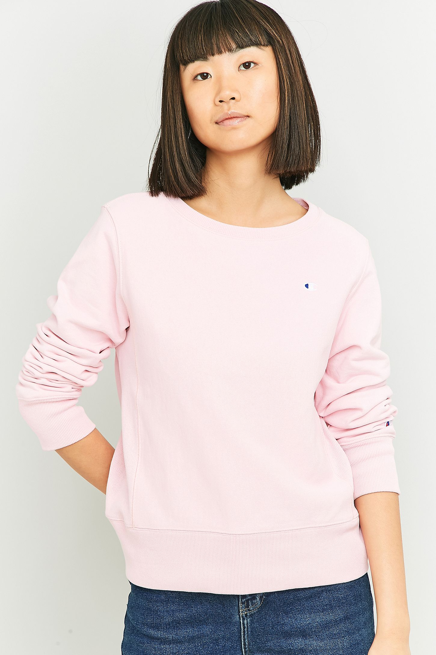 a0ec845c89fb Champion Small Logo Pink Sweatshirt