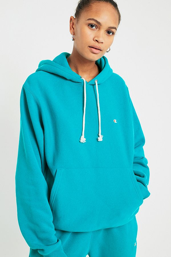 f1e08e46a7c1 Champion   UO Turquoise Reverse Weave Hoodie