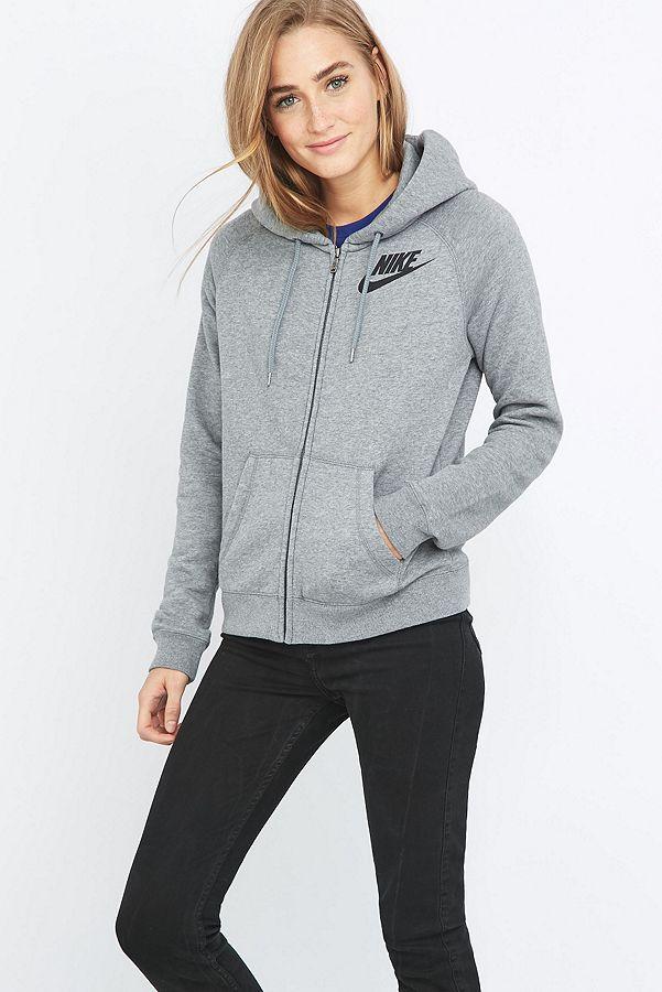 ff44c461a7c7 Nike Rally Full Zip Grey Hoodie