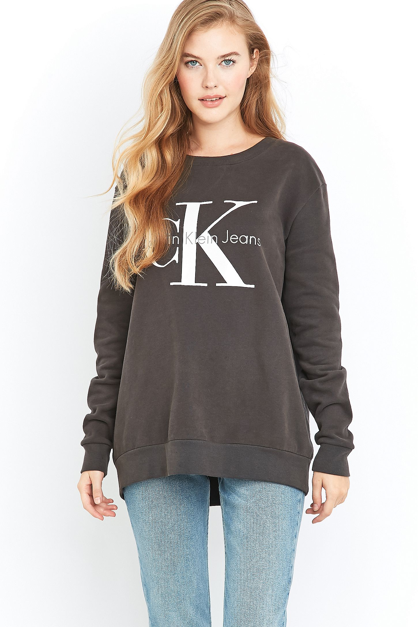 2c9fa0dae15 Calvin Klein Jeans Black Logo Sweatshirt. Click on image to zoom. Hover to  zoom. Double Tap to Zoom